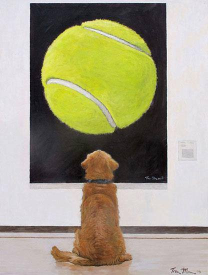 dog with painting