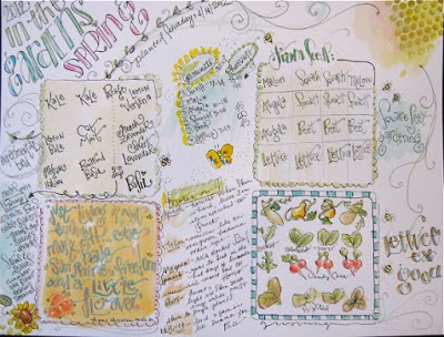 garden journal pageyapping cat