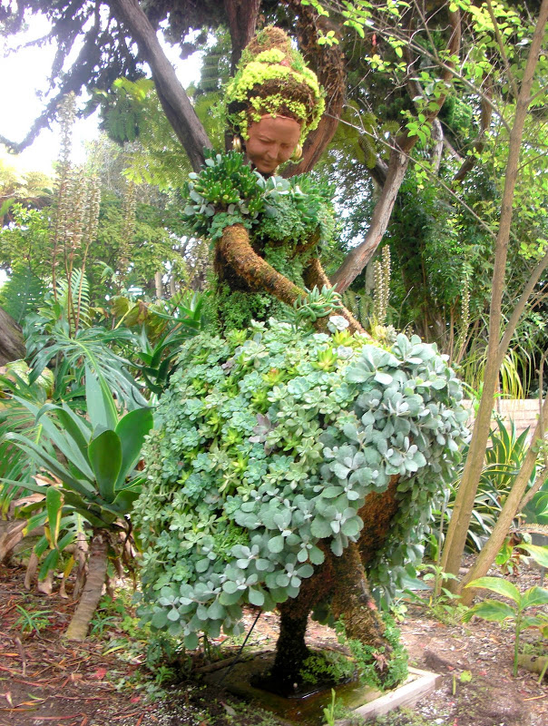 succulent topiary in San Diego Botanical Garden