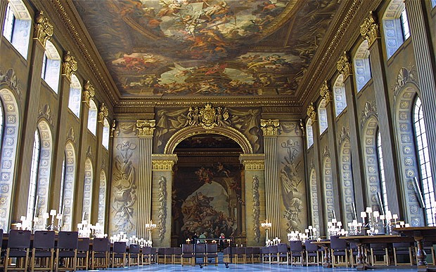 The Painted Hall The Old Royal Naval College Greenwich London GB UK. Image shot 2004. Exact date unknown.