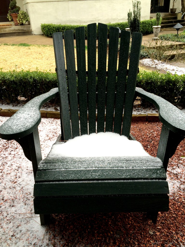 ice in March in Jackson MS