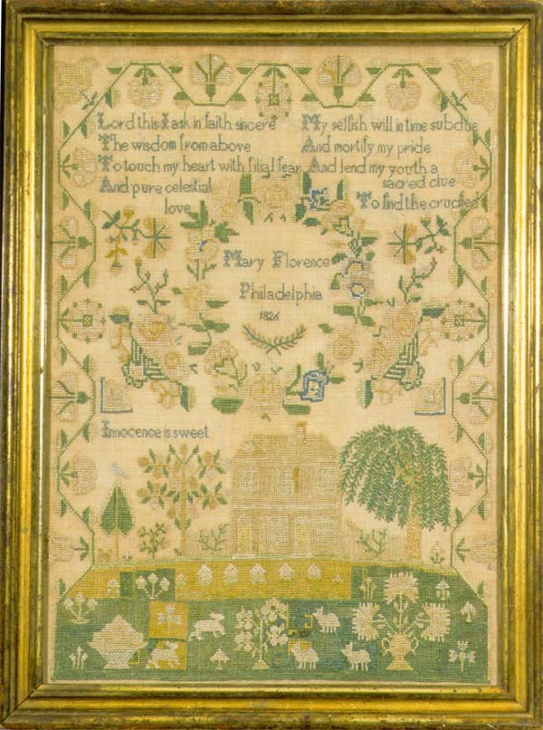 Florence antique sampler
