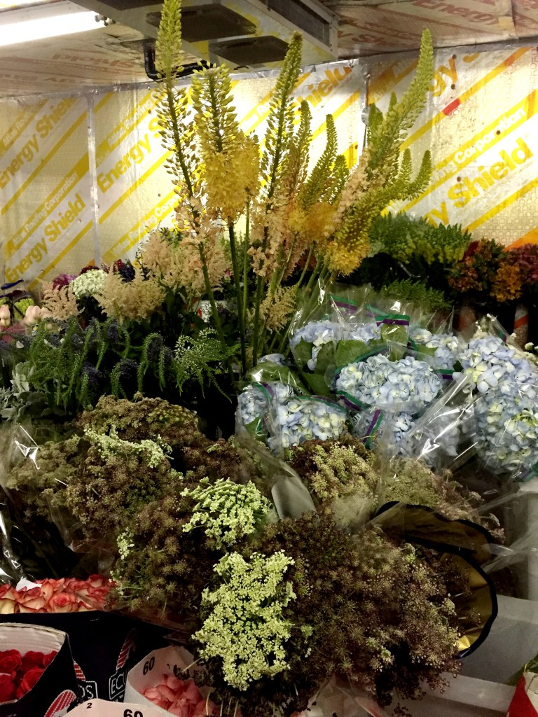 a trip to the wholesale florist