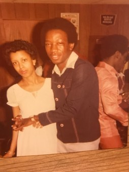A brother and sister (Stepheney and Brenda Lee) hang out at The Shack, a popular dance hall in the seventies. (Photo courtesy of Brenda Back)