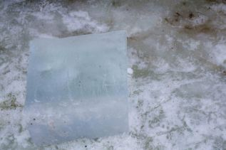 no colour: clear ice block