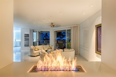 photo of Living Room, Evening View, Wailea Condominium Renovation