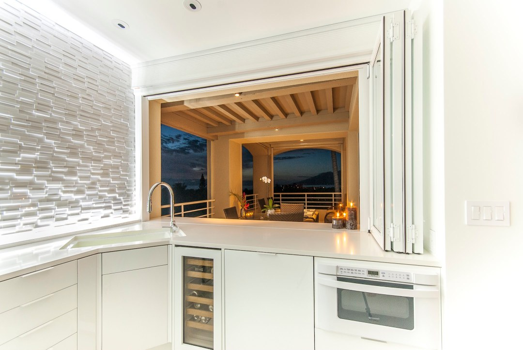 Kitchen View to Lanai, Wailea, Maui Condominium Renovation