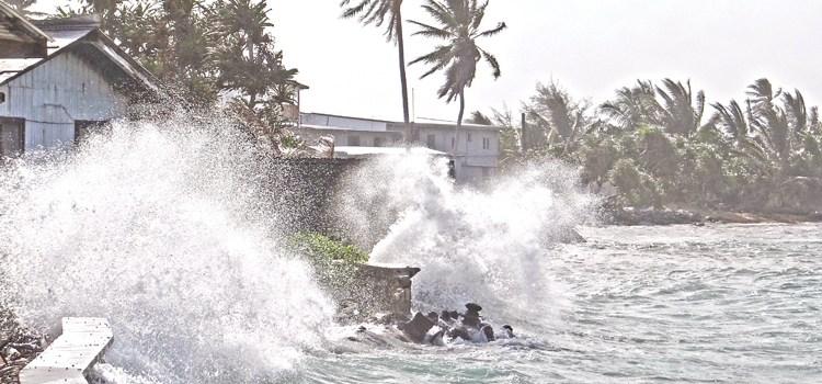 Storm-driven tides cause flooding