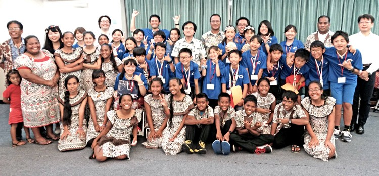 Japan students enjoy Majuro exchange