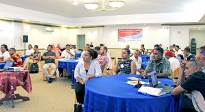 Attendees at the North Pacific region disaster response workshop held recently in Majuro.