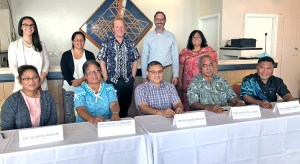RMI officials got together to sign an agreement following a meeting to sort out details for improving drawdown and use of federal funding.