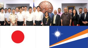 President Hilda Heine joined with Special Advisor to the Prime Minister of Japan Kentaro Sonoura, Japan Ambassador to RMI Norio Saito and delegation for talks in Majuro last week.