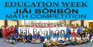 Dozens of students from public and private schools on Majuro joined in the Education Week math competition that was held at the ICC. Photo: Kelly Lorennij.