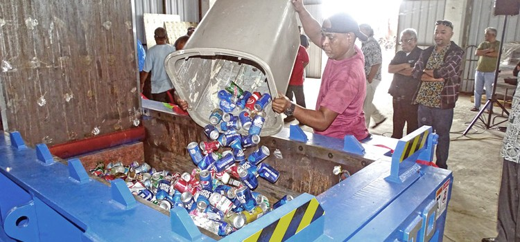 Recycling success in Majuro