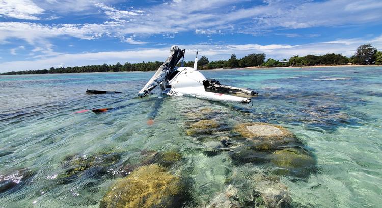 Chopper pilot survives crash