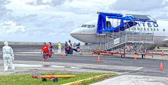 Group of 43 arrives Majuro, Kwaj