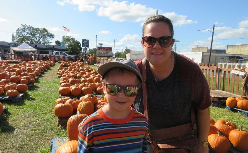 Marshall is at the Pumpkin Patch 2018