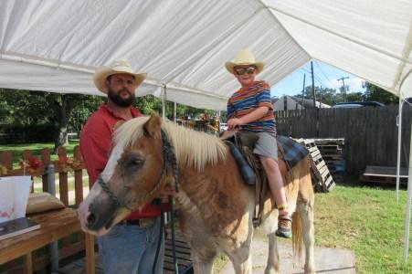 Marshall sat on a horse.