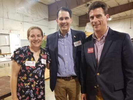 Oysters for Obenshain with Governor Scott Walker