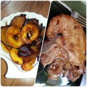 smoked porkchop, pan-seared plums