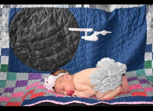 Star Trek Quilt Hamby grandbaby