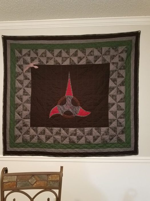 Star Trek Klingon Quilt 2
