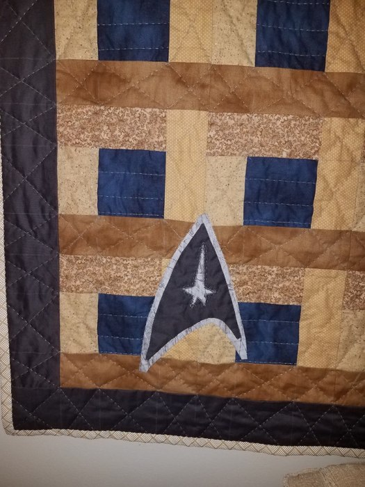 Star Trek Quilt for dad 3