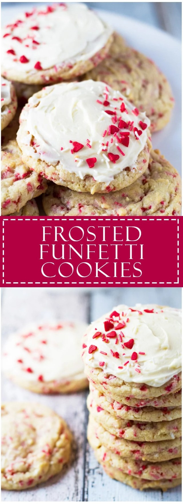 Frosted Funfetti Cookies | Marsha's Baking Addiction