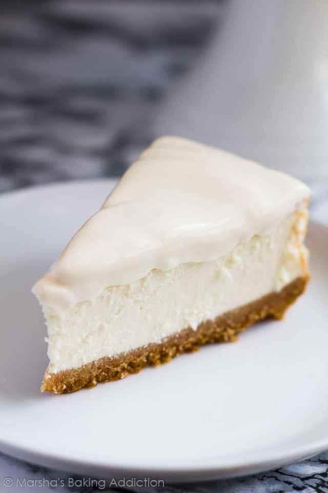 Perfect Vanilla Cheesecake | Marsha's Baking Addiction