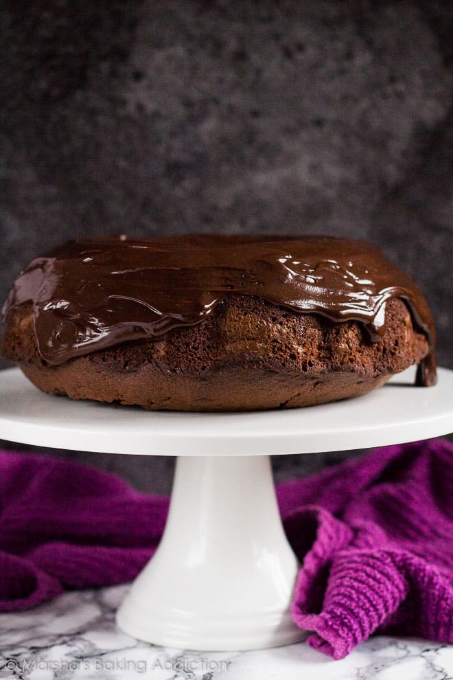 Cheesecake Swirl Chocolate Bundt Cake | marshasbakingaddiction.com @marshasbakeblog
