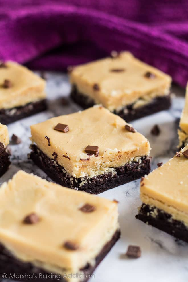 Peanut Butter Fudge Brownies | marshasbakingaddiction.com @marshasbakeblog