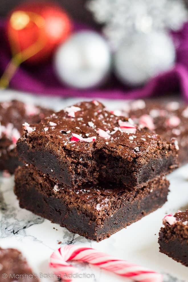 Peppermint Mocha Brownies | marshasbakingaddiction.com @marshasbakeblog