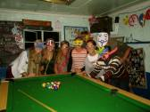 Masquerade night at a hostel in South Africa