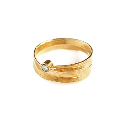 Meadowgrass Blue Topaz Ring, Alex Monroe
