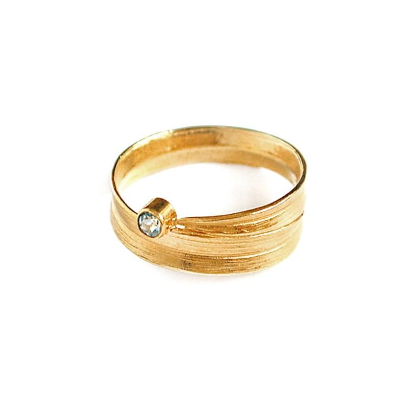 Meadowgrass Blue Topaz Ring, Alex Monroe
