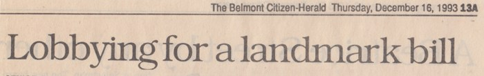 Belmont Citizen Herald, December 16, 1993