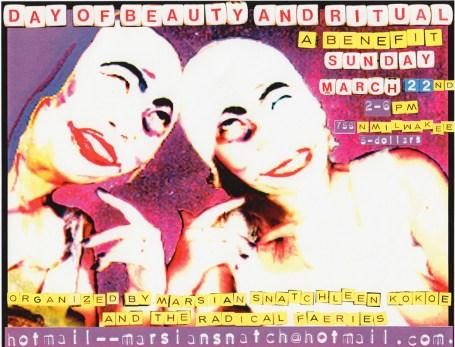 Day of Beauty + Ritual, 1998, Poster: Marsian De Lellis, model: Julie Puzzon