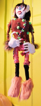 """Linda Carvel"" (detail), Puppet Trash, 2004, AS220, Providence, photo: Marsian De Lellis"