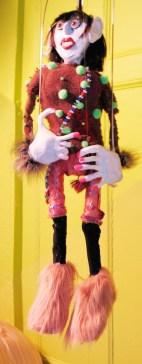 "lindamerge2-opt ""Linda Carvel"" (detail), Puppet Trash, 2004, AS220, Providence, photo: Marsian De Lellis"