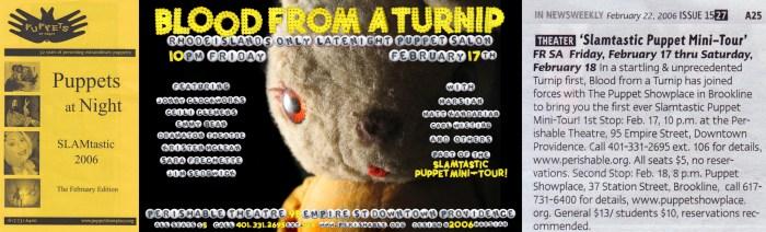 Slamtastic Puppet Mini-Tour, 2006