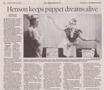 Calgary Herald, March 11, 2011