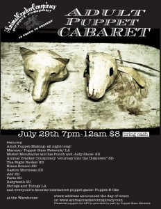 Animal Cracker Conspiracy - Adult Puppet Cabaret, 2011