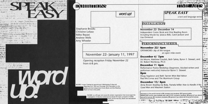 1996-11-22-Gallery-Card-Edit-150dpi Speak Easy Gallery Card