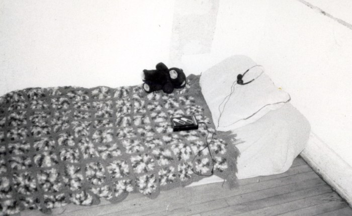 1994-Bed01-BW-edit-300dpi 1994 Confessional Bed Assorted Crackerjack Prizes Boston