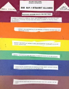Belmont High School GSA Poster, 1993