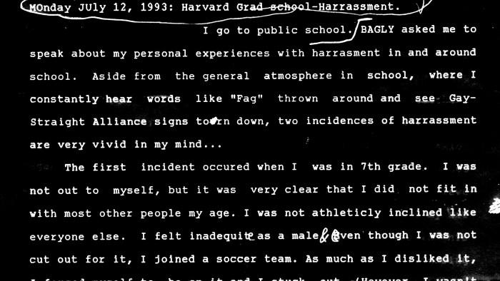 1993-07-12-Harvard-cover1-16x9-300dpi Harvard Graduate School of Education LGBTQ 1993