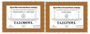tokmak 77-1 SWL Sertifika