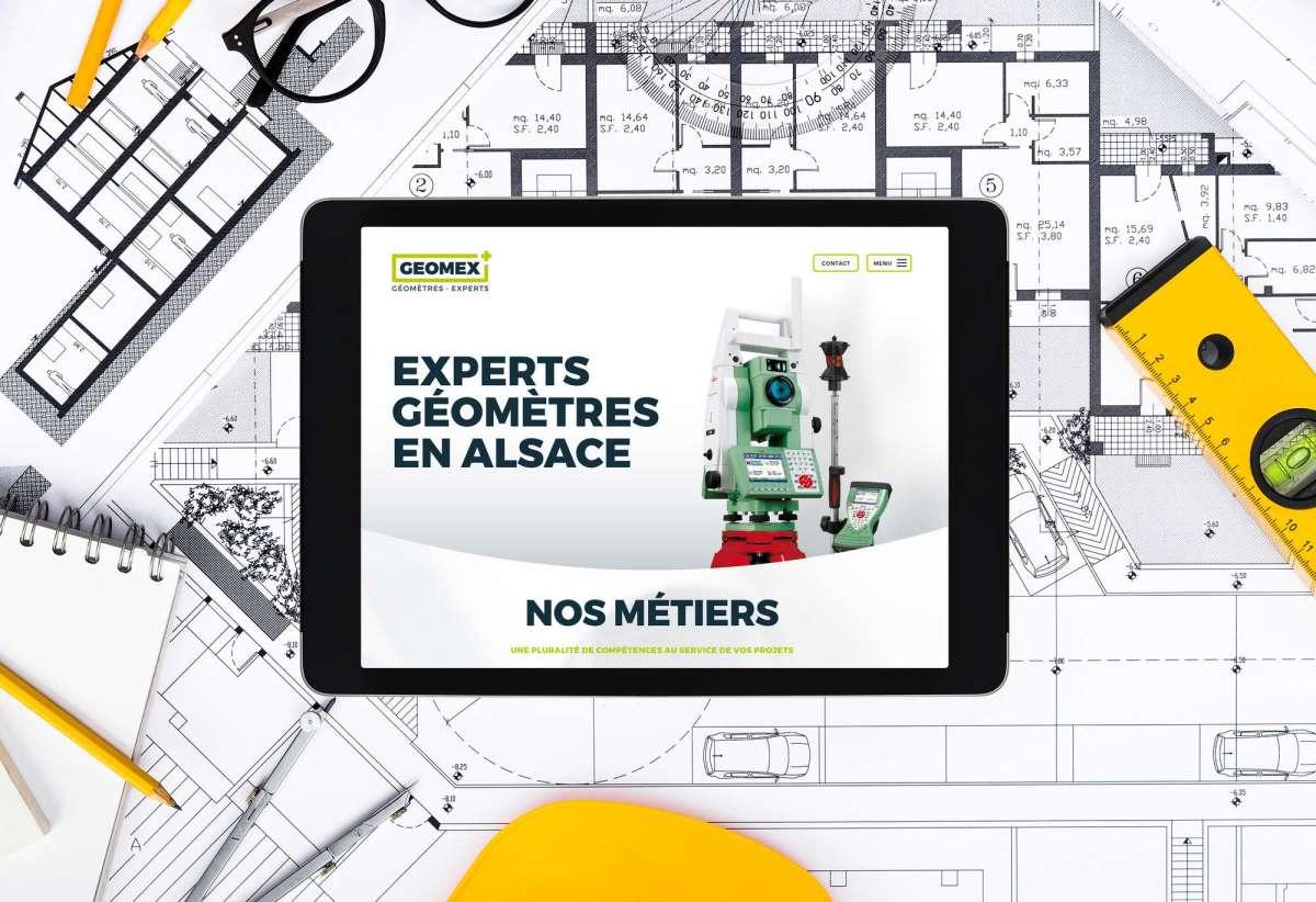 Le site internet des géomètres-experts en Alsace réalisé par MARS ROUGE