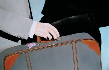 The end of love affaire (2010) Dibujo, lápiz y pastel sobre papel. Medidas 31,5 x 46,5 cm. Film: North by Northwest (1959) Dir. Alfred Hitchcock