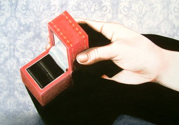 The Ring (2009) Dibujo, lápiz y pastel sobre papel. Medidas 28 x 30 cm. Film: How to Steal a Million (1966) Dir. William Wyler
